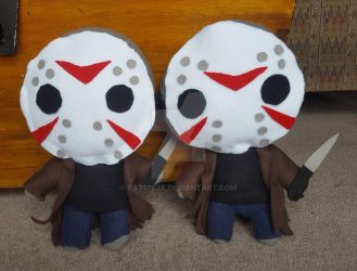Jason Voorhees Plushies by Bat13SJx