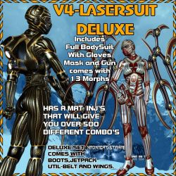 Deluxe LaserSuit V4, by midnigh_stories by FantasiesRealmMarket