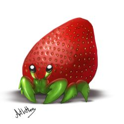 creature doodle #8 strawberry crab by ArtKitt-Creations