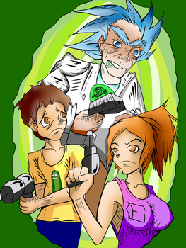 Let's Battle - Rick and Morty by The-Blacklist-Draw