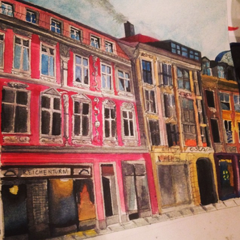 Watercolour building by AlliandoAlice