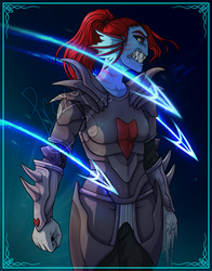 Undyne the undying by ProxyComics