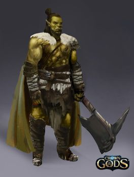 Male ork avatar by Jackiefelixart