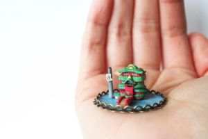 Miniature Japanese Bathhouse by lonelysouthpaw