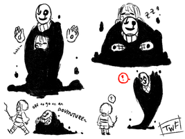 Goopy Gaster by theweirdfellow