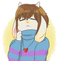 Overtale Frisk by crispicroissant