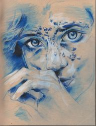 Stare (drawing) by isekersky