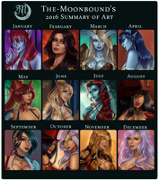 Moon's 2016 Art Summary by The-Moonbound