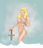 Sexy warrior (colored) by electronicdave