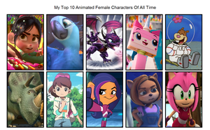 My Top 10 Animated Female Characters Of All Time by Elbeno62