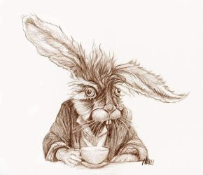 The March Hare Alice in Wonderland by LevonHackensaw