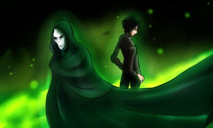 Lord  Voldemort and  Harry  Potter cover by DOLL00132
