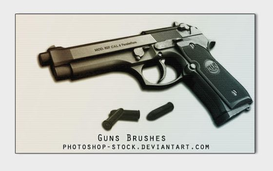 Guns Brushes by photoshop-stock