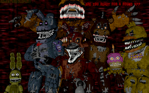 Five Nightmares At Freddy's by AdventureOldFoxy