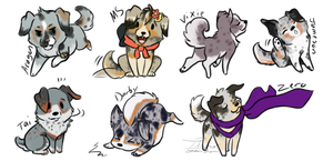 [HT]-Chibi Pups by itsmar