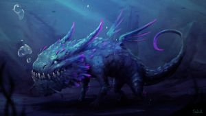 Water Dragon | BESTIARY IX by Sephiroth-Art