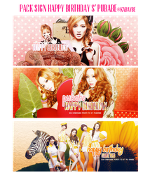 Pack Signature Happy Birthday S' Pubabe By Kabaybe by Kabaybe