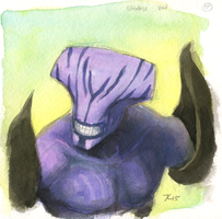 Inktober #17 - Faceless Void by OnyxSerpent