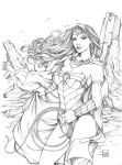 Wonder Woman Pencils by Sabinerich