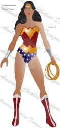 Vector - WONDER WOMAN by AC_P2 by MissCreative82