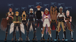 Terra Fray: main characters by Dotswap