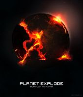 Planet Explode - Hopefully Not Earth by leoaw