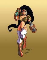 Wonder Woman by Rantz Coloured by Jukkart