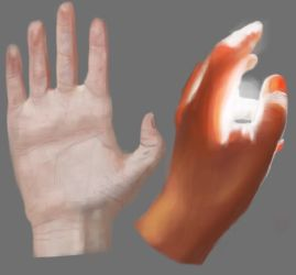 Hand study by yiokes