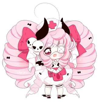 [CLOSED] Non crayon Pink Halloween Adopt! by Valyriana