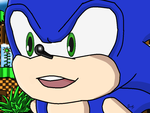 Sonic The Hedgehog in Green Hill Zone by Saliux