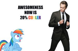 Awesome Barney Stinson and Cool Rainbow Dash by normanb88
