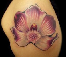 Wild Orchid Tattoo by hatefulss