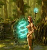 Forest sorceress by Acrylicdreams