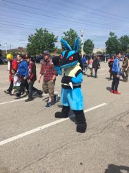Anime North 2017 Lucario Cosplay by pokemonmanic3595