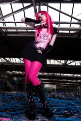 Miss Neon Pink II by SaphirNoir