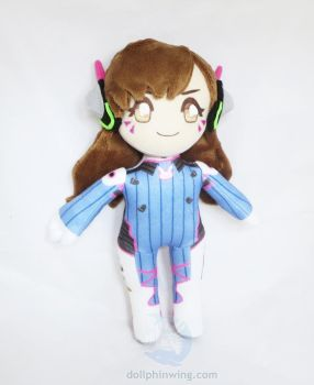 Overwatch D.Va Plush Doll by dollphinwing