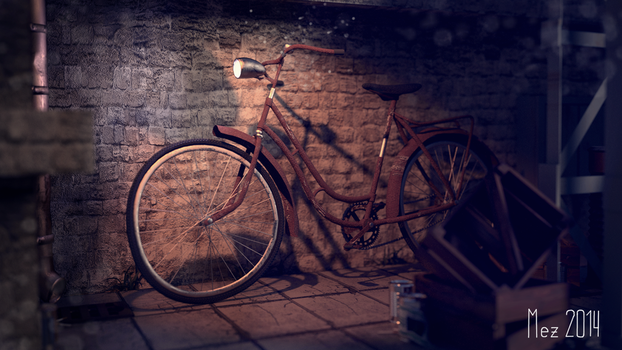 rusty bike by Mezaka