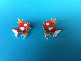 Magikarp Earrings by Human-Person42