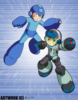 True Double Heroes: Beck and Mega Man! by SaitoKun-EXE