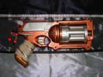 Steampunk painted Nerf gun - Maverick (Right side) by TtheD
