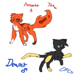 Amberkit and Dewkit up for Adoption by SilverKitti