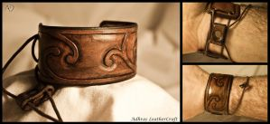 Tooled Leather Cuff 1 by Adhras