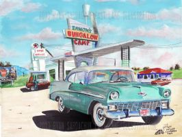 Stopping At Eamon's (1956 Belair Painting) by FastLaneIllustration
