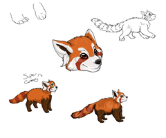 Red Pandas by InuMimi