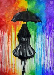 I'll dissolve when the rain pours in by heyydaydreamer