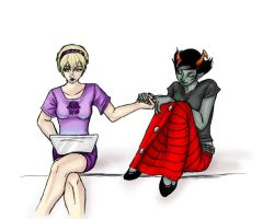 :Homestuck: Rose+Kanaya by Pancake-fairy