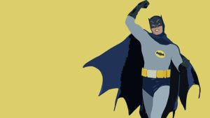 Adam West 1960's Batman Minimalist Wallpaper by Leoheart7