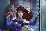 Is this easy mode? (Overwatch: D.Va) by Blu-Oltremare