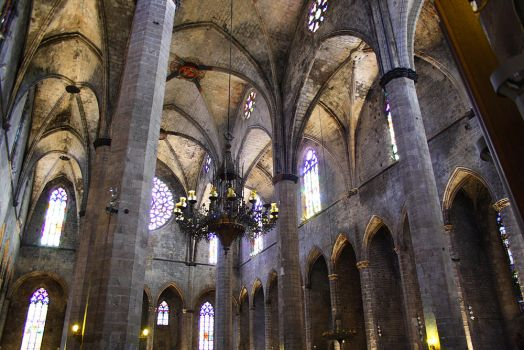 Inside Catedral de Barcelona by Alex-E