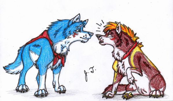 Canine Pictures - Ao and Arrow by joshbluemacaw